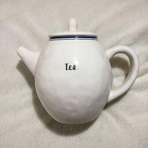 Rae Dunn Tea blue line indigo teapot New